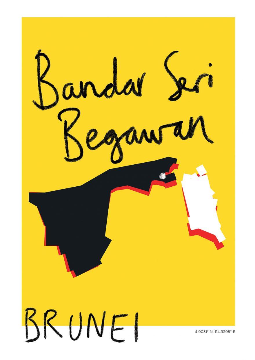 Bandar Seri Begawan Map