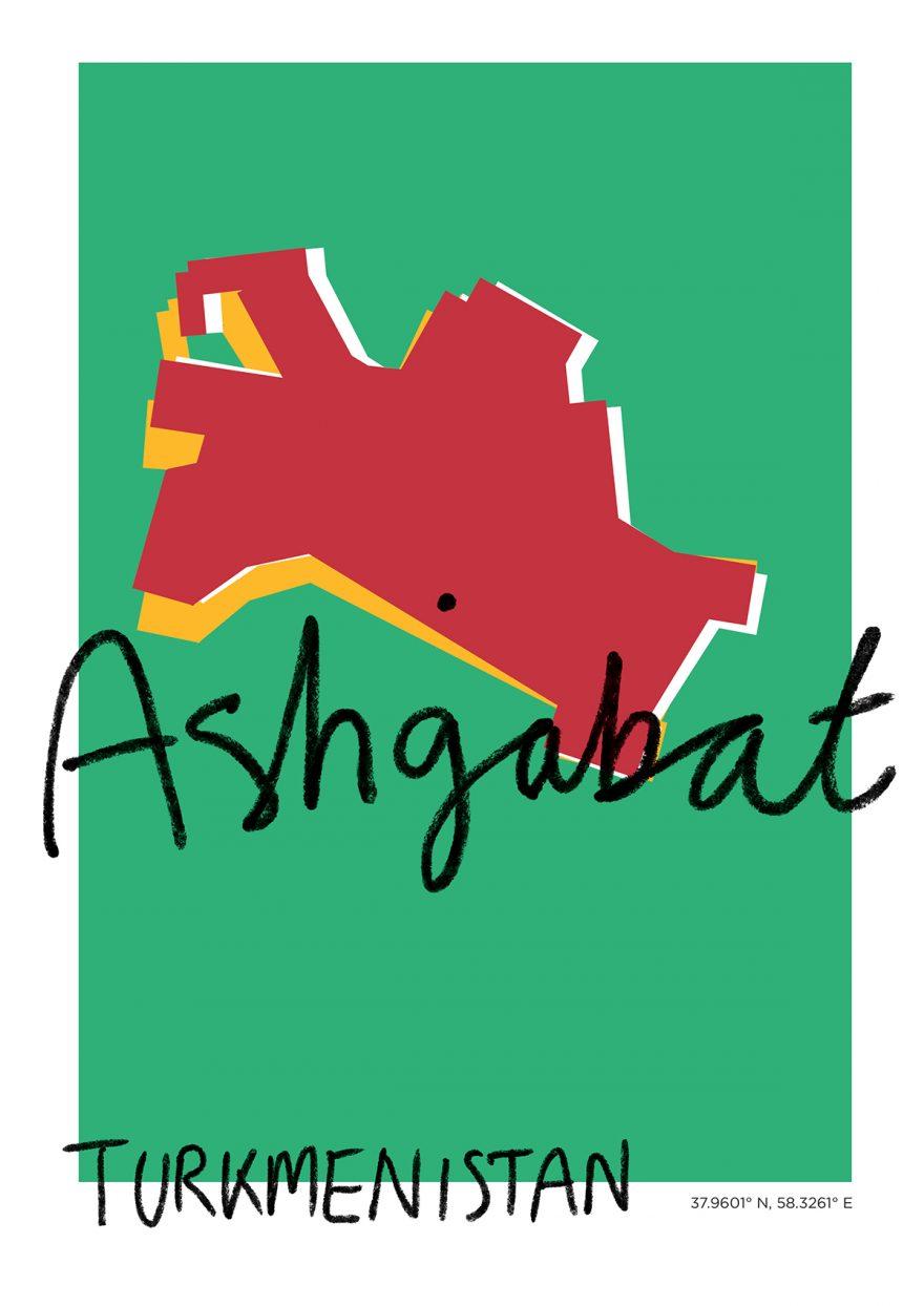 Ashgabat Map