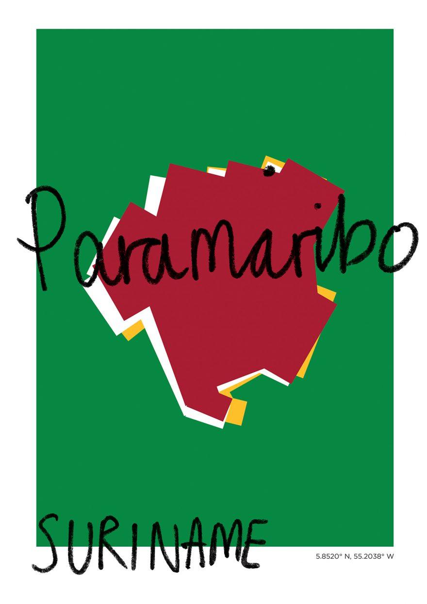 Paramaribo Map